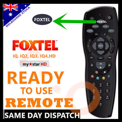 FOXTEL TV REMOTE Control Replacement For FOXTEL MYSTAR HD & PAYTVS BLACK SILVER