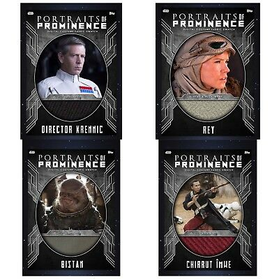 PORTRAITS OF PROMINENCE S2 RELIC SET OF 4 Topps Star Wars Card Trader Digital
