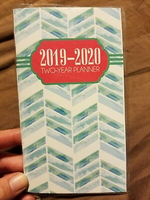 2019-2020 Two 2 Year green/blue PLANNER Pocket Purse Calendar