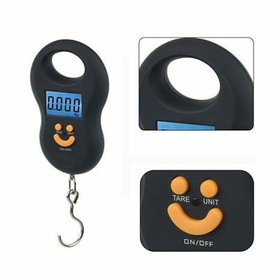 Electronic 50kg/5g Pocket LCD Digital Hanging Luggage Weight Hook Portable Scale