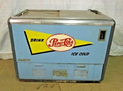 ORIGINAL Vintage Pepsi Cola Soda Pop Refrigerated Cooler