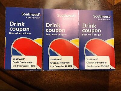 3 southwest airlines drink coupons