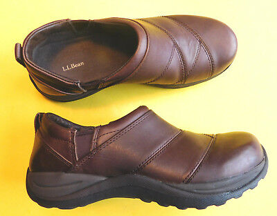 LL BEAN Women's Shoes Size 9 M Slip On Suede Leather Style 05330 Brown