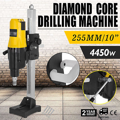 Vevor 255mm Diamond Concrete Core Drill Machine Vertical Stand Press Drilling