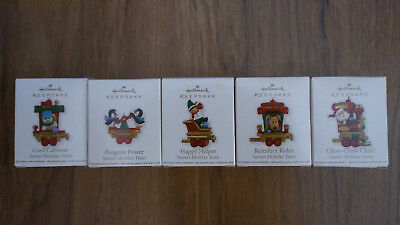 Hallmark 2011 Santa's Holiday Train Set (5 miniature ornaments) NIB