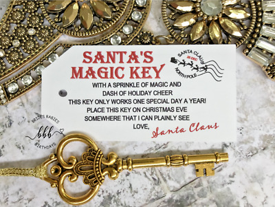 Santa Magic Key Christmas Ornament Christmas Eve Door Chimney V2