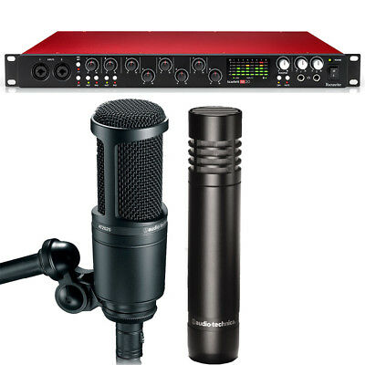 Focusrite Scarlett 18i20 2nd Gen Recording Interface with A-T Microphone Set