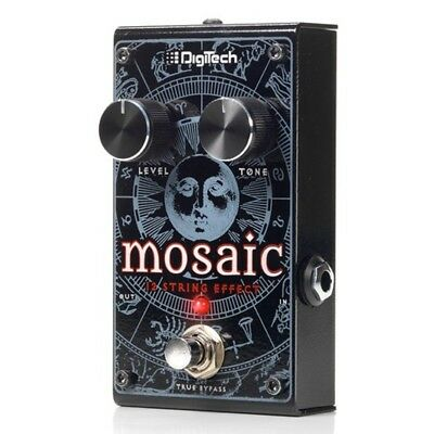 Digitech Mosaic Polyphonic 12-String Guitar Pedal with Power Supply and Cables
