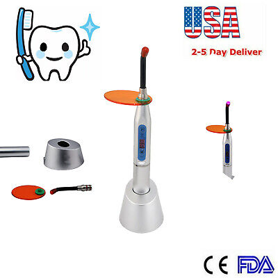 NEW Silver Dental 10W Wireless Cordless LED Curing Light Lamp Machine 2000MW US