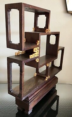 Vintage Chinese Wooden Curiosities Stand