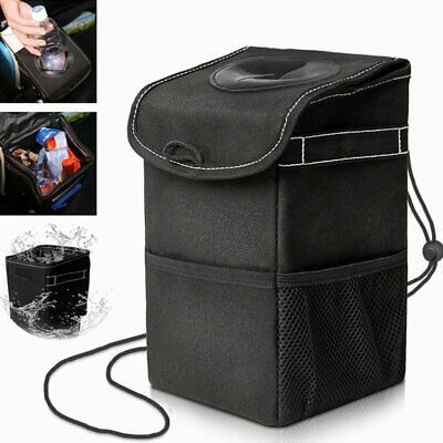 Car Trash Can Storage Pockets With Lid Space Saving Leakproof Bag Bin Organizer