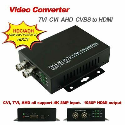 4K 8MP Converter TVI CVI AHD CVBS to HDMI and BNC out HDC/ADH Video Converter