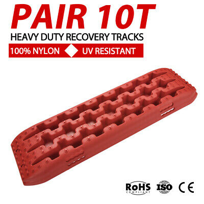 RED 4WD Recovery Tracks 10T Off Road 4x4 Snow Mud Sand Track 10 ton Pair
