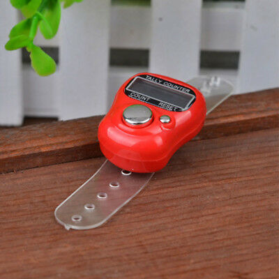 Mini Electronic Counter Meter LCD Screen Tally Counter Finger Ring Clicker