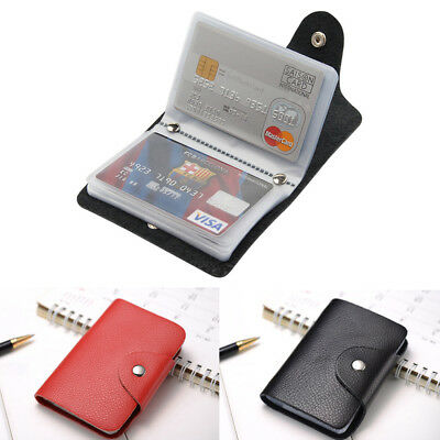 Mens Slim Soft Leather ID Credit Card Holder Pocket Case Purse Wallet For Cards