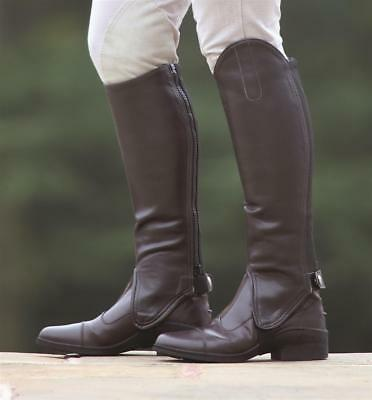 New * Shires * Synthetic Leather Gaiters * Half Chaps * Brown * Adult Small *