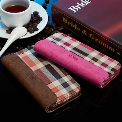 Luxury Magnetic Flip Cover Stand Wallet Leather Case For Samsung Galaxy S6 S7