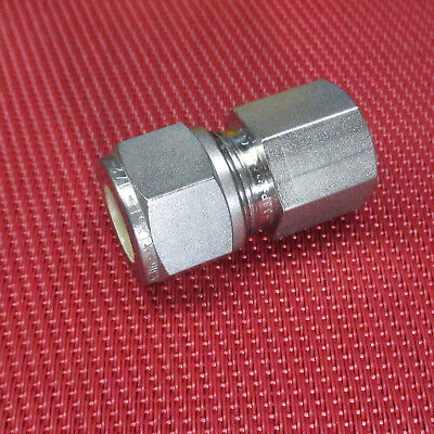 SSP Grip®1/2 Tube OD x 1/4 NPT Pipe FEMALE STRAIGHT CONNECTOR 316Stainless Steel