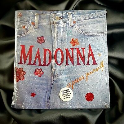 Madonna Express Yourself Sealed 7'' Zip Limited Edition Uk Vinyl Record 1989
