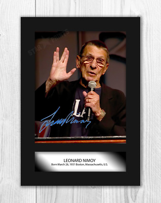 Leonard Nimoy (1) Star Trek A4 signed mounted poster. Choice of frame.