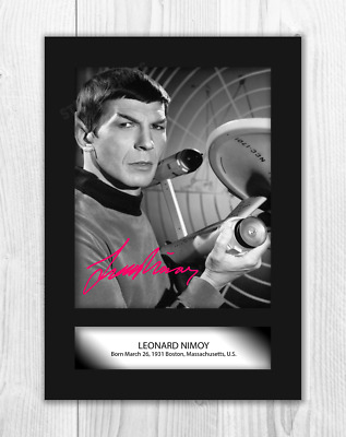 Leonard Nimoy (2) Star Trek A4 signed mounted poster. Choice of frame.