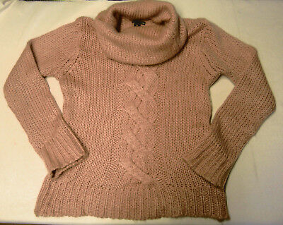 0fe01c06ad655 Superbe Pull H & M T 42 Fr Comme Neuf Laine Mohair Rose Pale Maille Hiver  Femme