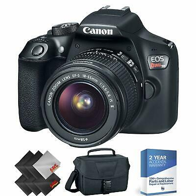 Canon EOS Rebel T6 DSLR Camera with 18-55mm Lens + 2 Year Accidental Warranty