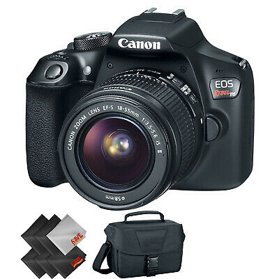 Canon EOS Rebel T6 DSLR Camera with 18-55mm Lens + 1 Year Warranty