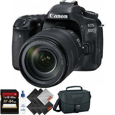 Canon EOS 80D DSLR Camera with 18-135mm Lens + 64GB Memory Card Bundle009