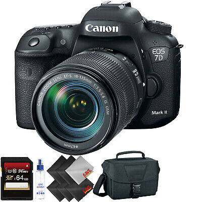 Canon EOS 7D Mark II DSLR Camera with 18-135mm f/3.5-5.6 is USM Lens Bundle059