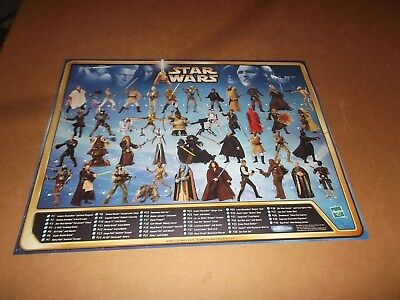Star Wars Action Figure Poster~Attack Of The Clones Checklist~Hasbro 2002~New~