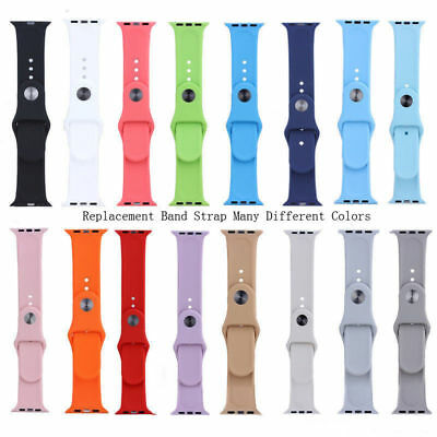 Replacement Silicone Sport Band Strap 38mm 42mm for Apple Watch iWatch 1 2 3