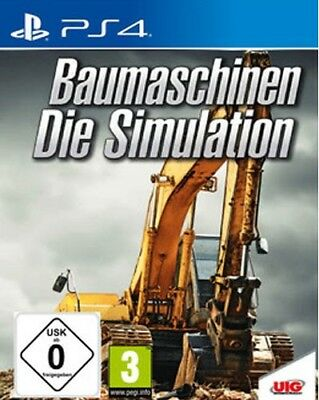 Sony PS4 Playstation 4 Spiel ***** Baumaschinen - Die Simulation ********NEU*NEW