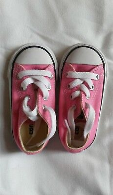 Baby Toddler Girls Pink Converse Shoes Pumps Uk Size 5