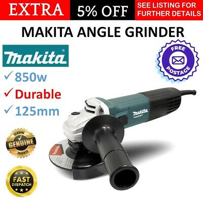 "New Makita Angle Grinder 850W 125mm (5"") MT Series Power Tool Lightweight M9511G"
