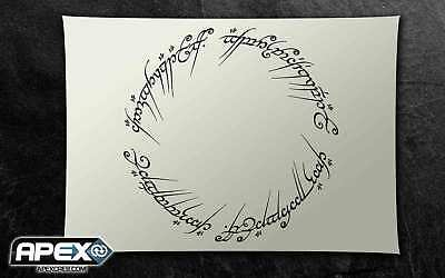 The One Ring Stencil - Lord of the Rings Airbrush, Sponging Snow ST-FL-LOTR1