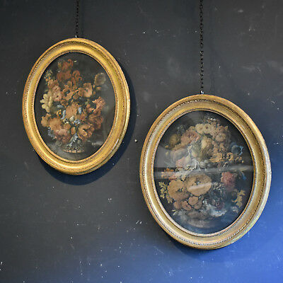 Pair of Early 19th Century Still Life Watercolour Paintings - Original Antique