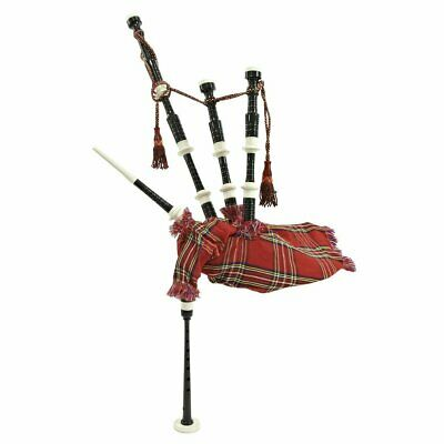 Bagpipes Red royal steward tartan, Cocus Wood, Full Size bagpipe with Hard Case