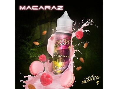 Twelve Monkeys Liquid Shake and Vape - MacaRaz 0 mg/ml 50ml DIY