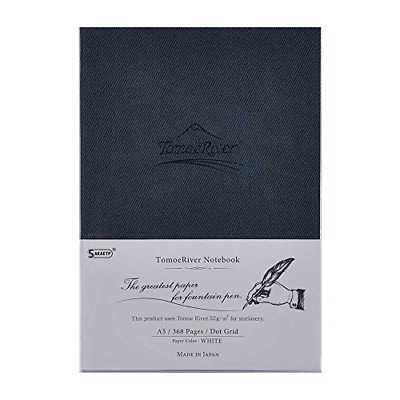 """Tomoe River FP Notebook, 5.85"""" x 8.27"""", 368 pages 184-Sheet, Hard Cover, Dot"""