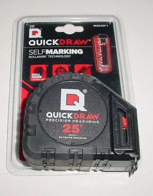 Measuring Tape 25 Feet, Quickdraw Self Marking - New