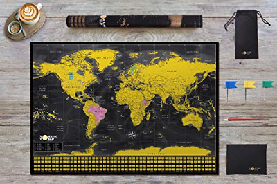 Professionally Designed - Scratch Off Map of The World - World Map - Extra Large