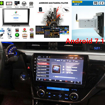 """10.1""""Touch screen Car Android 7.1Single 1 DIN Stereo Radio Player Music GPS Part"""