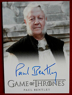 GAME OF THRONES - Season 6 - PAUL BENTLEY, High Septon - FULL BLEED Autograph