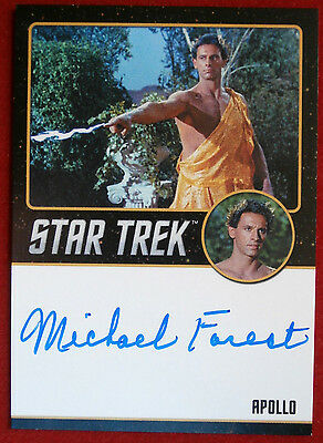 STAR TREK TOS 50th MICHAEL FOREST as Apollo, LIMITED EDITION Autograph Card