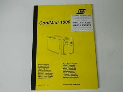 ESAB Aristo origo coolmidi 1000 manual paper back