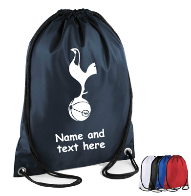 Personalised Drawstring Gym Bag FOOTBALL Soccer Spurs PE Kit Game Sports School
