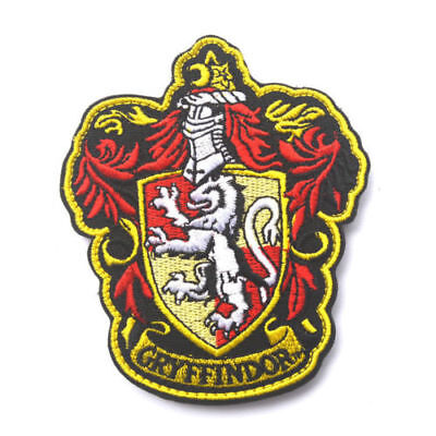 Harry Potter Gryffindor Embroidered Badge Style 3 Sew On / Iron On Patch