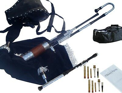 Uilleann Pipes Half Set Blackwood Bagpipes By Hakam Din & Sons (Student Model)
