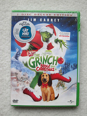 How the Grinch Stole Christmas Jim Carrey Deluxe Edition NEW FACTORY SEALED 2002